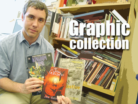 COMICS COLLECTION - Richie Graham, digital learning librarian/assistant professor for University Libraries, is expanding the libraries' graphic novel and comic...